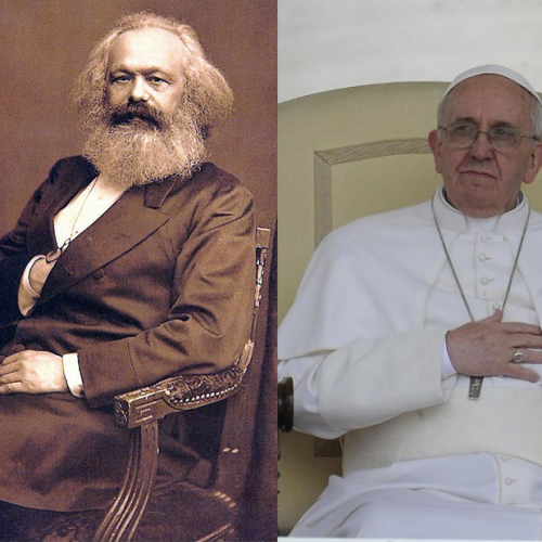Papa Bergoglio e Carlo Marx