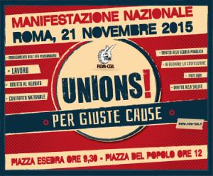 Adesione alla manifestazione promossa dalla Fiom per sabato prossimo 21