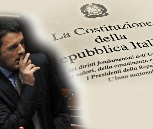 Costituzione e i tre falsi di Renzi