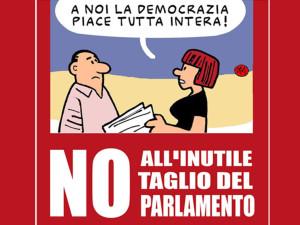 NO AL TAGLIO DEL PARLAMENTO